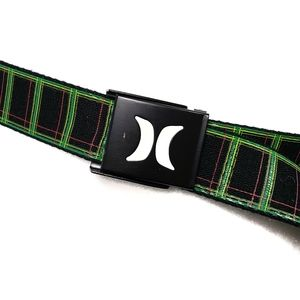 Hurley Belt Icon Buckle Green and Black